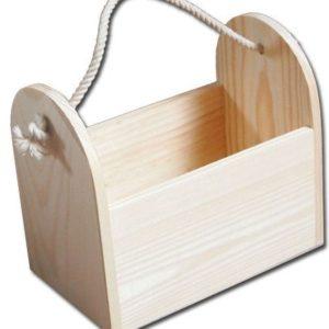 pojemnik drewniany ze sznurkiem