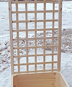 donica ogrodowa z kratką (40cm x 60cm x 1,70m)